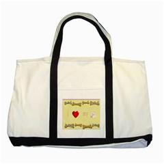 I Love My Dog! Ii Two Toned Tote Bag