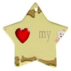 I Love My Dog! Ii Star Ornament (two Sides)