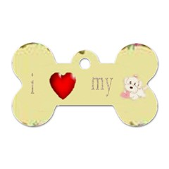I Love My Dog! II Dog Tag Bone (Two Sided)
