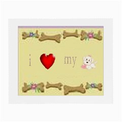 I Love My Dog! Ii Glasses Cloth (small, Two Sided)