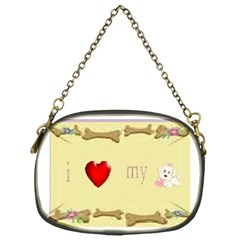 I Love My Dog! II Chain Purse (One Side)