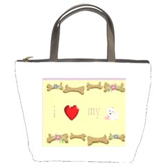 I Love My Dog! II Bucket Bag