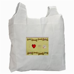I Love My Dog! Ii Recycle Bag (two Sides)