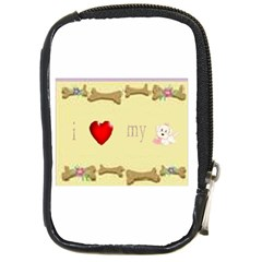 I Love My Dog! Ii Compact Camera Leather Case