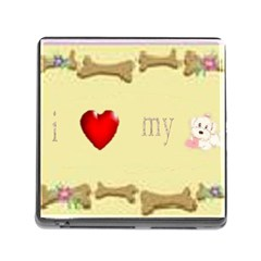 I Love My Dog! Ii Memory Card Reader With Storage (square)
