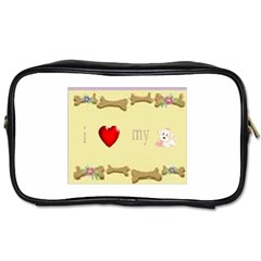 I Love My Dog! II Travel Toiletry Bag (Two Sides)