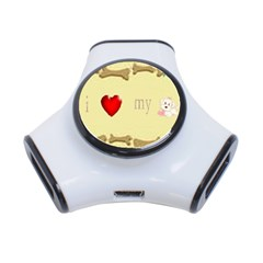 I Love My Dog! Ii 3 Port Usb Hub