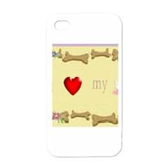 I Love My Dog! II Apple iPhone 4 Case (White)