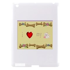 I Love My Dog! II Apple iPad 3/4 Hardshell Case (Compatible with Smart Cover)