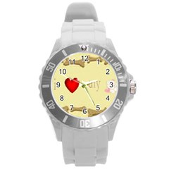 I Love My Dog! II Plastic Sport Watch (Large)