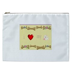 I Love My Dog! II Cosmetic Bag (XXL)
