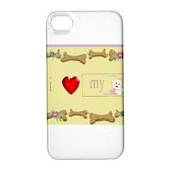 I Love My Dog! II Apple iPhone 4/4S Hardshell Case with Stand