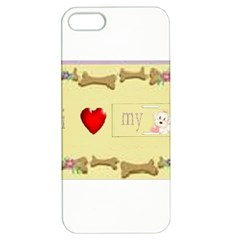 I Love My Dog! Ii Apple Iphone 5 Hardshell Case With Stand