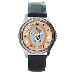 Arn t I Adorable? Round Metal Watch (Silver Rim)