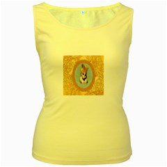 Arn t I Adorable? Womens  Tank Top (Yellow)