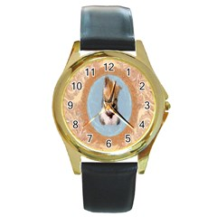 Arn t I Adorable? Round Metal Watch (gold Rim)