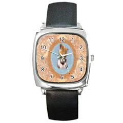 Arn t I Adorable? Square Leather Watch