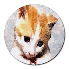 Sweet Face :) 8  Mouse Pad (Round)