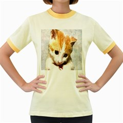 Sweet Face :) Womens  Ringer T Shirt (colored)