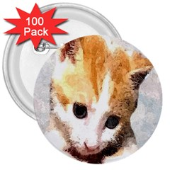 Sweet Face :) 3  Button (100 Pack)