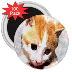 Sweet Face :) 3  Button Magnet (100 Pack)