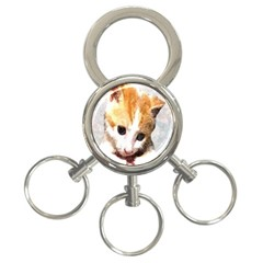 Sweet Face :) 3-Ring Key Chain