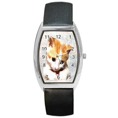 Sweet Face :) Tonneau Leather Watch