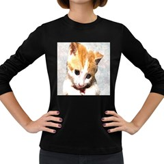 Sweet Face :) Womens' Long Sleeve T-shirt (Dark Colored)