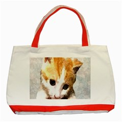 Sweet Face :) Classic Tote Bag (Red)