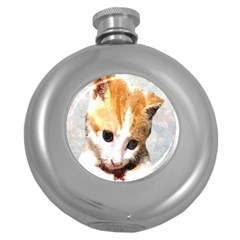 Sweet Face :) Hip Flask (Round)