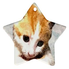 Sweet Face :) Star Ornament (two Sides)