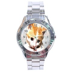 Sweet Face :) Stainless Steel Watch (Men s)