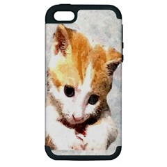 Sweet Face :) Apple Iphone 5 Hardshell Case (pc+silicone)