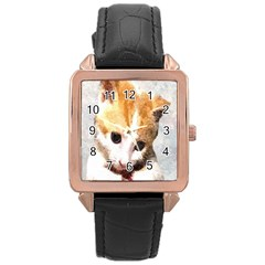 Sweet Face :) Rose Gold Leather Watch