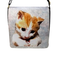 Sweet Face :) Flap Closure Messenger Bag (Large)