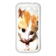 Sweet Face :) Samsung Galaxy S3 Back Case (white)