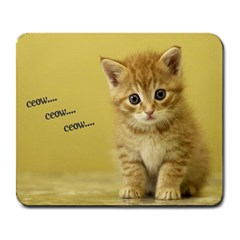 Cute kitty  Large Mouse Pad (Rectangle)