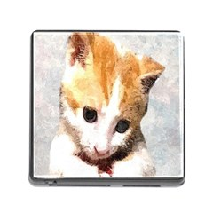Sweet Face ;) Memory Card Reader With Storage (square)