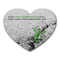 A New Beginning  Mouse Pad (heart)