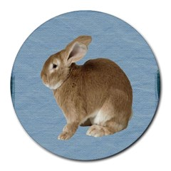 Cute Bunny 8  Mouse Pad (round)