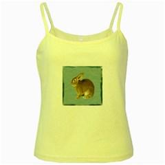 Cute Bunny Yellow Spaghetti Tank