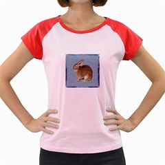 Cute Bunny Women s Cap Sleeve T Shirt (colored)