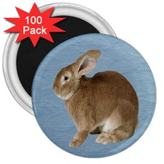 Cute Bunny 3  Button Magnet (100 pack)
