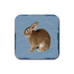 Cute Bunny Drink Coaster (Square)