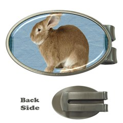 Cute Bunny Money Clip (oval)