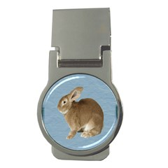 Cute Bunny Money Clip (Round)