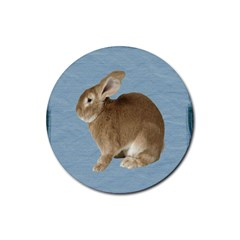 Cute Bunny Drink Coasters 4 Pack (Round)