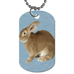 Cute Bunny Dog Tag (Two Sided)