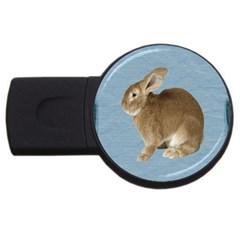 Cute Bunny 4GB USB Flash Drive (Round)