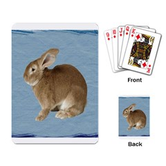 Cute Bunny Playing Cards Single Design